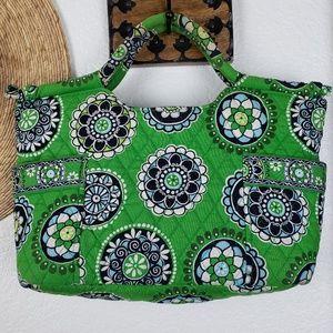 Vera Bradley Handheld Bag in Cupcakes Green